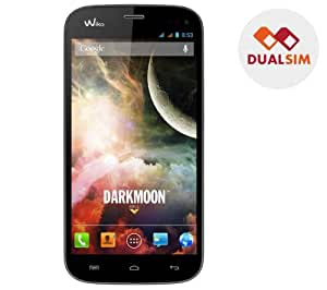 WIKO Darkmoon - negro - Smartphone dual sim + Folio Full Cover - negro - Funda de protección para smartphone Wiko Darkmoon + Tarjeta de memoria microSDHC 16 GB