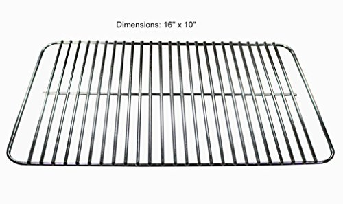BBQ Future 16 x 10 inch Go Anywhere Stainless Steel Replacement Cooking Grate Replaces 70211 & 3634