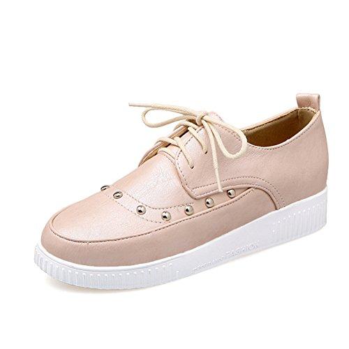 Alrededor de la cabeza con zapatos de encaje profundo/remache zapatos bajos/Zapatos del estudiante A