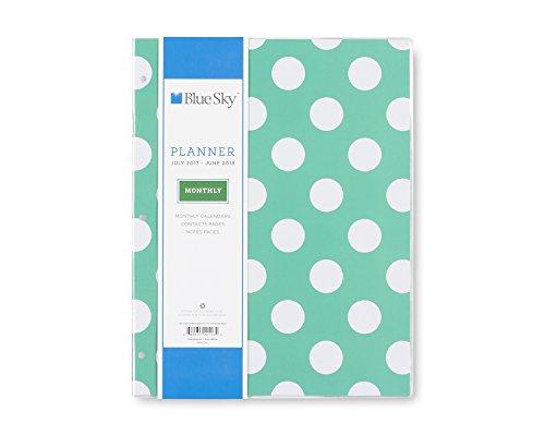 "Blue Sky ""Penelope"" 8.5 x 11 Monthly Slim Planner, Jul 2017 to Jun 2018"