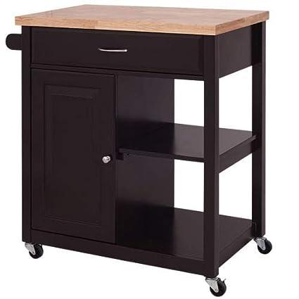 Amazon Com Lapha Shelves Table Rolling Kitchen Trolley Cart