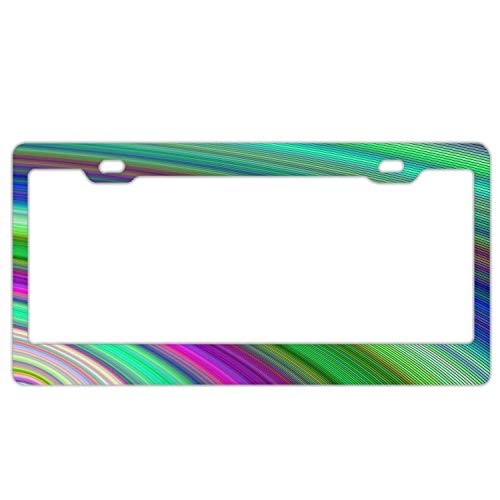 YEX Abstract Abstract Art Rainbow License Plate Frame Novelty Car Tag Frame Auto License Plate Holder 12