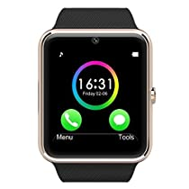 Aipker Smart Watch Phone for Samsung LG Sony Android Phones Gold