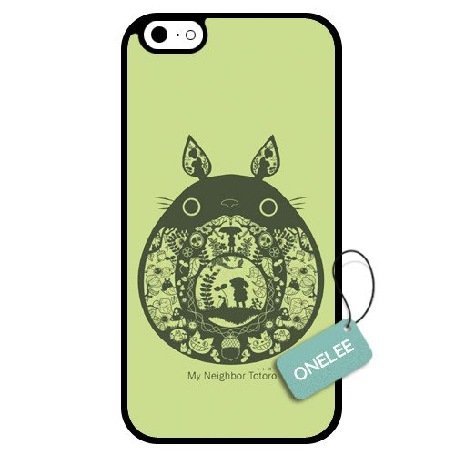 Onelee(TM) - Customized Japan Anime My Neighbour Totoro TPU Case Cover for Apple iPhone 6 - Black 10