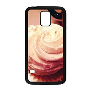 Samsung Galaxy S5 Cases Unique Delicious Chocolate Ice Cream, Ice Cream Cone Case for Samsung Galaxy S5 I9600 [Black]