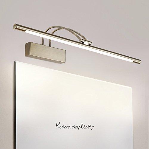 11W LED Silber Spiegellampe 240 /° einstellbar Edelstahl Badleuchte Schranklampe Bilderlampe Wandleuchte IP44 Lichtquelle 4200k Nat/ürliches Licht 24.4 inch