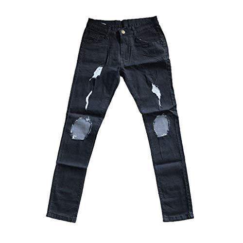 Mit Hosen Plus Denim Destroyed Size Hosen S Herbst Slim Yying Reißverschluss Jeans 3XL Herren Jeans Tamaño Skinny Und Freizeit Negro Fit Jeans Sommer Hosen 0xwwF6O