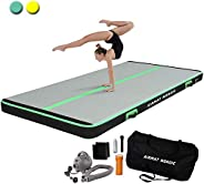 AirMat Nordic Carbon Air Mat Tumble Track 10ft/13ft with Electric Air Pump, Inflatable Gymnastics Mat for Home
