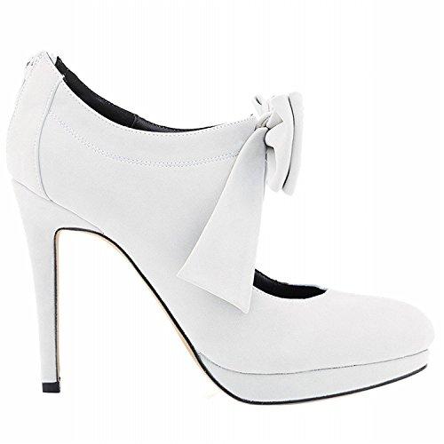 oppicong Chic Women's Bow-Knot High Heels Point Toe Stiletto Pumps white velvet6 B(M) - Map Arundel Mills