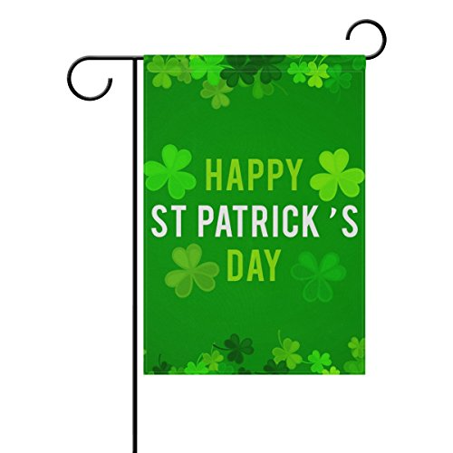 My Daily St. Patrick's Day Green Clover Decorative Double Sided House Flag 28 x 40 inch