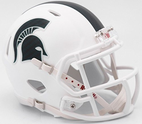 Riddell NCAA Michigan State Spartans Helmet Full Size ReplicaHelmet Replica Full Size Speed Style 2017 Alternate, Team Colors, One Size