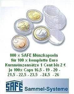 Caja fuerte 800 cápsulas para monedas EURO 100 x todo músicos ...