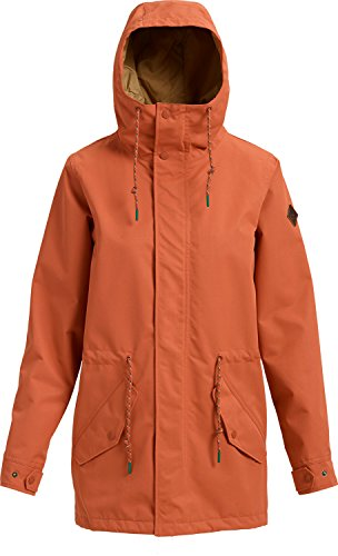 Snowboard Burton Womens Glove (Burton Women's Sadie Jacket, Hot Sauce, Small)