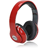 2BOOM MIXX Professional Over Ear Studio Foldable Digital Stereo Bass Wired Headphone Red
