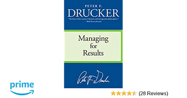 Peter Drucker Managing For Results Pdf