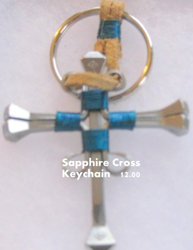 Horseshoe Nail Cross Keychain - 9