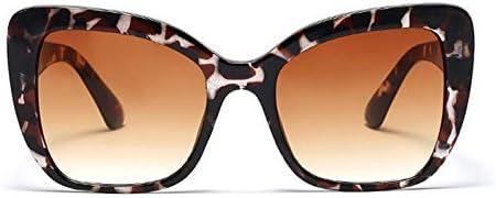 WDDYYBF Sonnenbrillen, Vintage Cat Eye Sonnenbrille Frauen Fashion Square Sonnenbrille Weiblichen Blume Rahmen Eyewar Retro Farben Uv400 Amber Kaffee