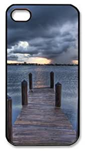 iPhone 4S/4 Case Cover - Sea Pontoon Designer Customize PC Back Cover Case for Apple iPhone 4s and iPhone 4 - Black