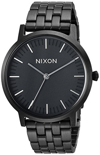 Nixon Men's 'Porter 35' Quartz Stainless Steel Casual Watch, Color:Black (Model: A11981420)