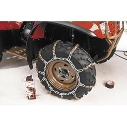 2008-2010 Honda TRX 420 Rancher 2x4 ATV V-Bar Tire Snow Chains [Rear]
