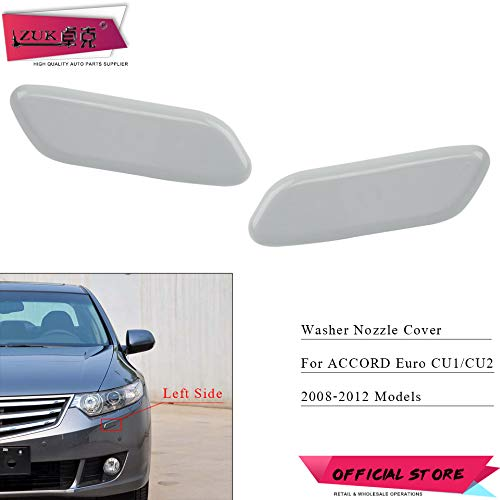 - Wipers Hukcus Headlight Washer Nozzle Cover For HONDA ACCORD Euro CU1 CU2 2008 2009 2010 2011 2012 Headlamp Head Light Water Spray Jet Cap - (Color: Left and Right)