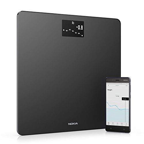 Withings / Nokia | Body - Smart Weight & BMI Wi-Fi Digital Scale with smartphone app, - Digital Wireless Scale