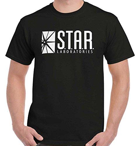 (Star Labs The DC Flash Comics Superhero Reverse CW T-Shirt Tee)