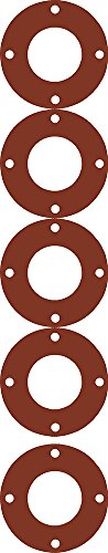 Sterling Seal CFF7237.300.125.150X5 7237 Red Rubber Full Face Gasket, 3.5