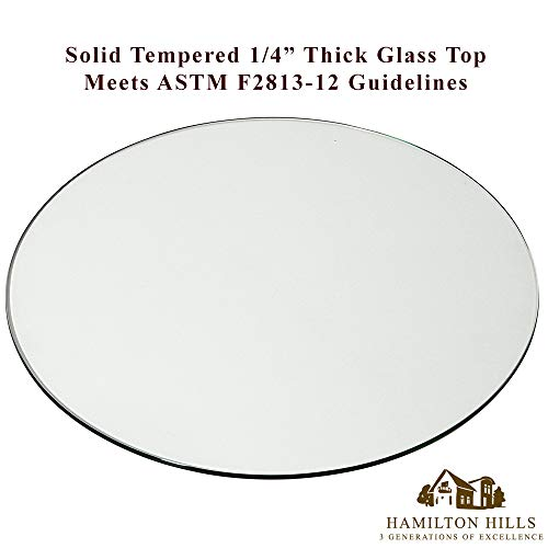 24 Inch Glass Table Top | 1 4 Thick Tempered Polished Pencil Edge | 24 No Bevel Premium Round Flat Circular Plate Glass | Perfect Circle