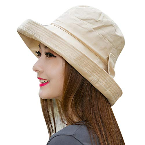 Ladies UV Sunshade Hat Summer Sun Hat Sun Protection Hat Rollover Fisherman Hat Ladies Bucket Breathable Sun Hat Women Summer Wide Brim Foldable Sun Hat for Gardening Hiking Camping Hat Beach Sunhat