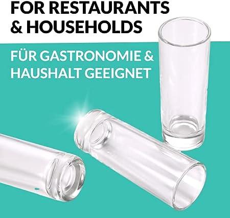 Juego de 12 Vasos para Chupito Alargados de 4cl - Transparentes - Vidrio Templado - Estables - Aptos para Lavavajillas