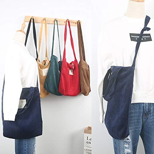couleur velours grande capacité Mode à sac messager main bandoulière sac côtelé sac voyage solide sac bandoulière à à magnétique sac en quotidien femmes 5zzY8qw