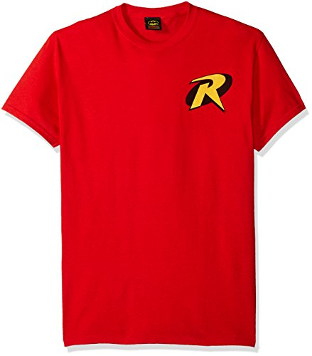 T-Shirt - Batman-Robin Logo, Red, Large
