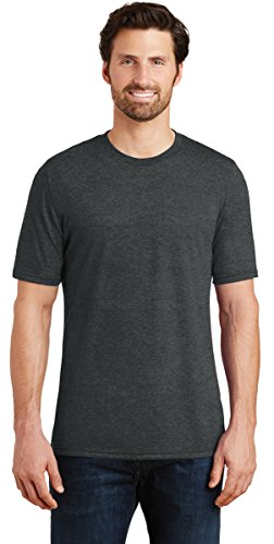 District Made DM130 Mens Perfect Tri Crew Tee, L, Black Frost from District Made