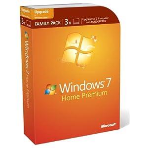 Hammer! Windows 7 Home Premium (3 Lizenzen, Handbuch, kostenloser Telefon-Support) für nur 139 € !