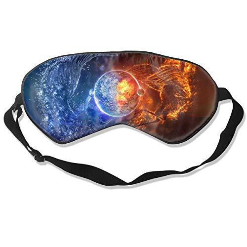 Oh-HiH 100% Silk Eye Mask Fairy Phoenix Water Sleeping Blindfold Blocks Light Eye Cover ()