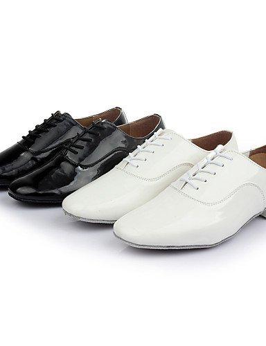 Talon danse Similicuir Chaussures de Black Samba ShangYi Noir Latine Blanc Bottier Personnalisables Non q0UTTB