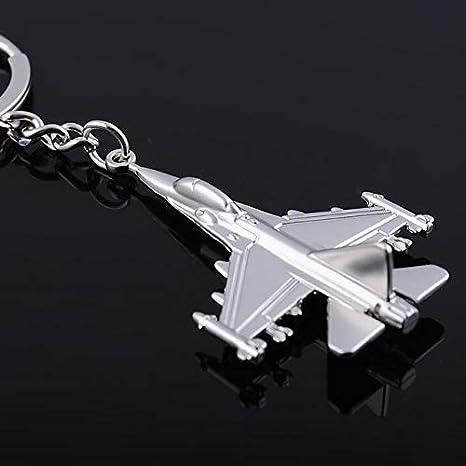 Amazon.com: Llavero de avión con cadena de metal, llavero ...
