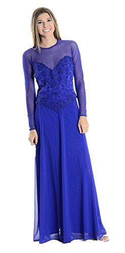 - Tadashi Women's Beaded Formal Gown Skirt/Top Set in Sapphire Blue, 6