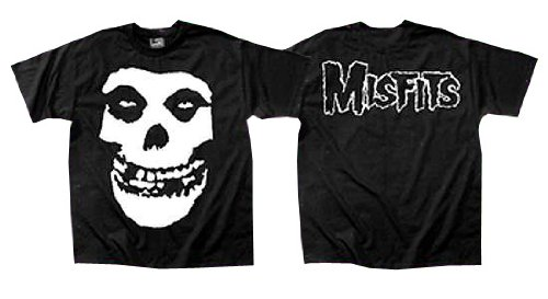 The Misfits - Classic Fiend Skull Adult T-Shirt In Black, Size: Small, Color: Black