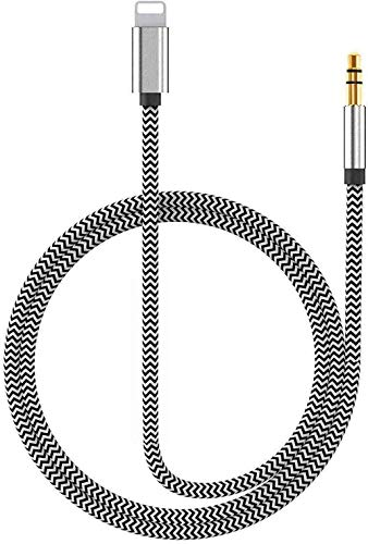[Apple MFi Certified] Lightning to 3.5mm Headphone Jack Adapter, 3.5 mm Aux Audio Cable Cord Compatible with iPhone 11 Pro Max XS/XR/8 7, Support iOS 13 & Music Control & Calling