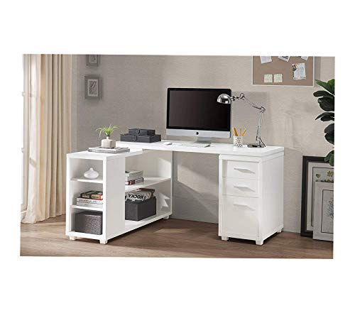 2l Lifеstylе Office Home Furniture Premium Fairbank L-Shaped Executive Desk White Finish, Large