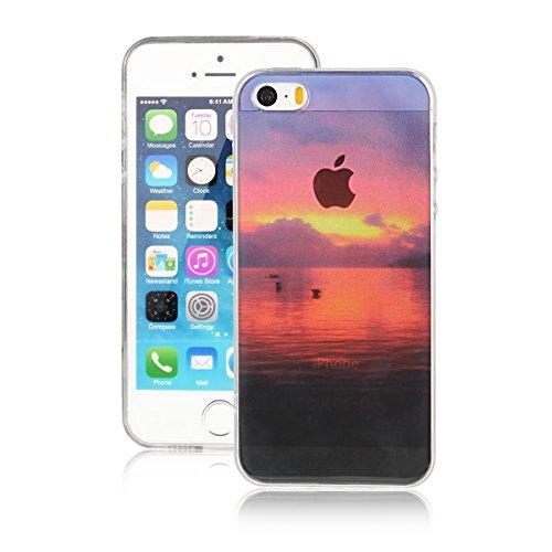 Für Apple iPhone 5 5G 5S / iPhone SE (4 Zoll) Hülle ZeWoo® TPU Schutzhülle Silikon Tasche Case Cover - AK011 / Dawn