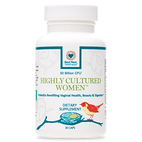Highly Cultured Women's Probiotics 50 Billion CFU | 13 Strains, 2x Most Probiotic Supplements with Acidophilus, Patented Time Release Capsules, Once Daily Probiotic Supplement, 30 Ct, Best Nest (Acidophilus Bacteria Powder)