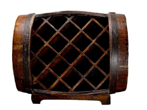 Antique Revival Half-Barrel Wine Rack, Natural Elm