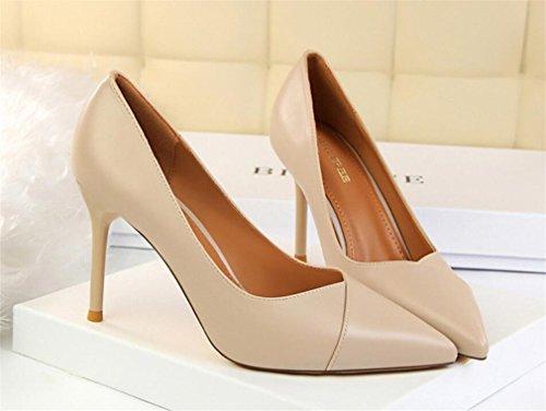 Peep mujer medio con Señoras Sandalias tacón EU37 LUCKY de tobillo para alto Toe Beige de 40 Zapato tacón A bajo EU37 Correa Zapatos tiras con Zapatos CLOVER 1qqW786