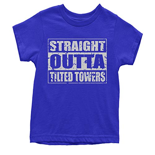 Outta Time T-shirt - Motivated Culture Youth Straight Outta Tilted Towers T-Shirt Large Royal Blue