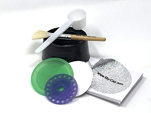 Purchase My-Cap Sampler – Complete Solution to Make Your Own Capsules for Nespresso VertuoLine Brewers (With Silicone Cap and Lid)