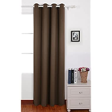 Deconovo Brown Thermal Insulated Bedroom Window Blackout Panel Curtain 52 By 84 Inch