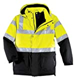 Port Authority Men's Safety Parka_Safety Yellow/ Black/Reflective_M